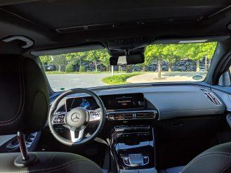 Mercedes electric EQC interior