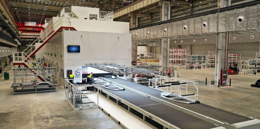 Tesla Gigafactory Shanghai stamping machinie