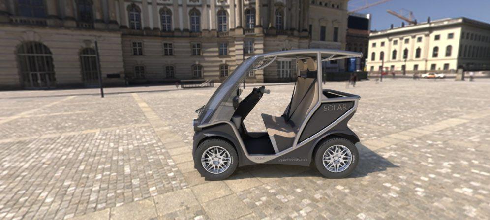 Squad Solar City Car side silver