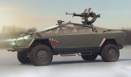 Tesla Cybertruck Warthog 1