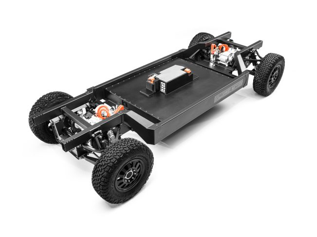 Bollinger Motors Patent-Pending E Chassis 3 4 High