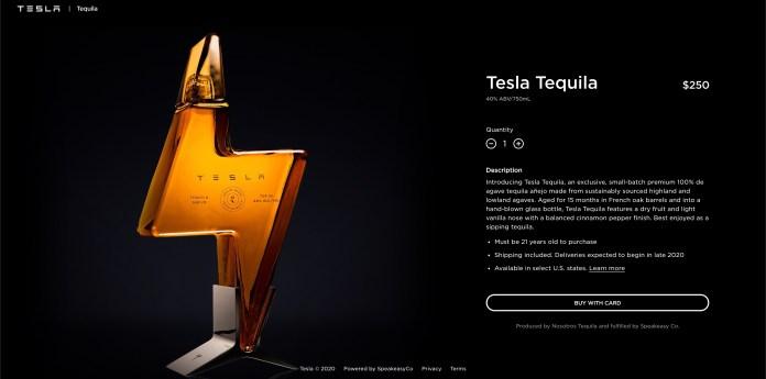 Tesla lanza su propia marca de tequila 1
