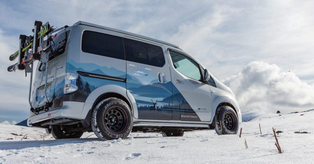 Nissan unveils electric 'winter camper' van concept - Electrek