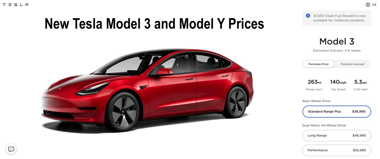 The tesla model y crossover will be built on the platform and underpinnings of the model 3, ceo elon musk has confirmed. Tesla Reduces Model 3 And Model Y Prices Now Starts Under 37 000 Electrek