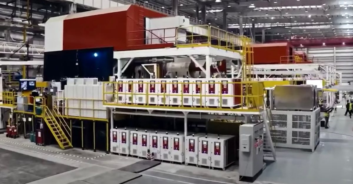 Tesla releases video of Giga Press in action producing giant single-piece rear body - Electrek
