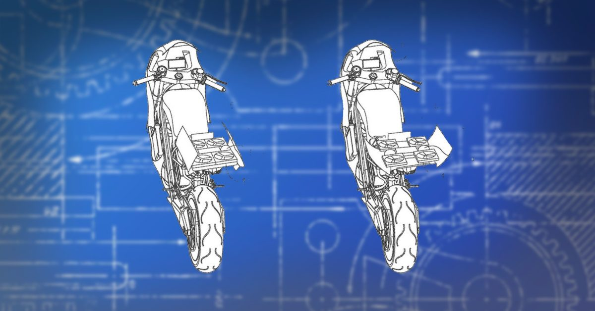Honda just patented this electric motorcycle with a built-in drone in its tail