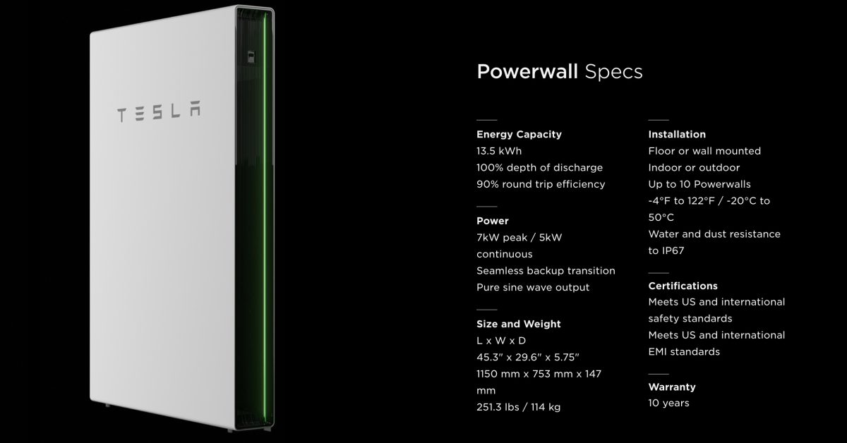 Tesla is increasing Powerwall power capacity by up to 50% - Electrek