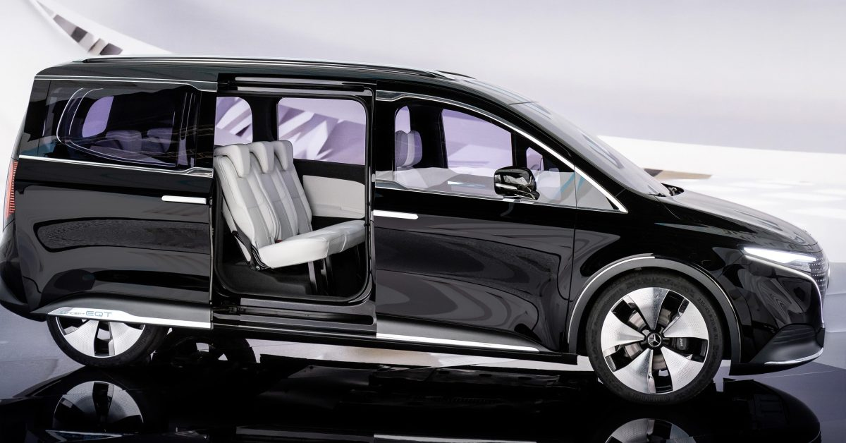 Mercedes-Benz unveils EQT electric minivan with interesting design