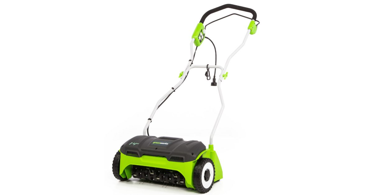 Green Deals: Greenworks 14-inch Electric Dethatcher is a must for older yards at $101, more - Electrek