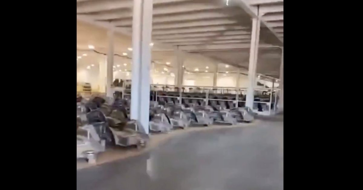 Leaked video from Tesla Gigafactory Texas shows tons of megacasts ahead of production