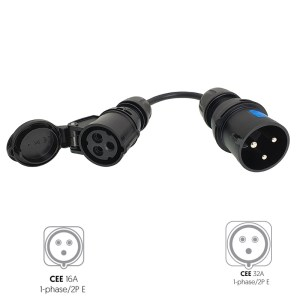 CEE 3P 16A female to CEE 3P 32A male adapter
