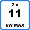 Max 2x11kW - Double borne de recharge (2 x 11kW)