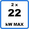 Max 2x22kW 2 - Duo-oplaadstation met kabels (2 x 22kW)