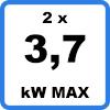 Max 2x37kW - Double borne de recharge avec câbles (2 x 3,7kW)