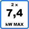 Max 2x74kW - Double borne de recharge (2 x 7,4kW)