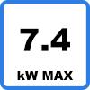 Max 7.4 - Câble de charge pour véhicule électrique et hybride rechargeable (7,4kW - Type 2, monophasé)