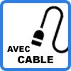 avec cable - Borne de recharge VE avec câble (jusqu'à 3,7kW)