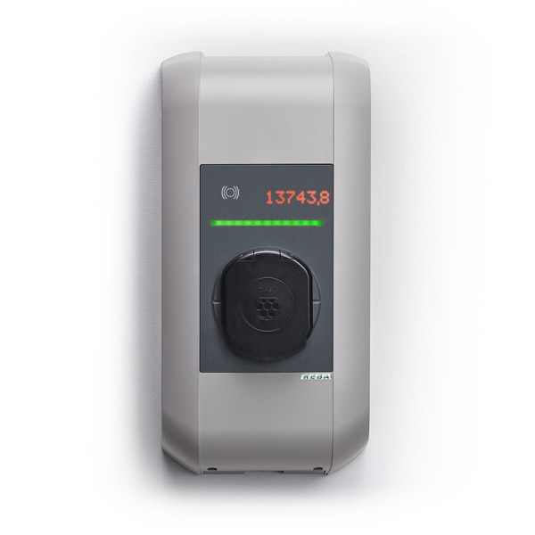 KEBA P30 x-series charging station from 2,3kW to 22kW with RFID, kWh MID counter and WiFi/4G/LTE connectivity - 110618