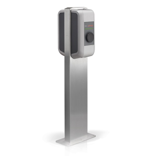 KEBA Pedestal/stand for two wallboxes, in stainless steel – 90786