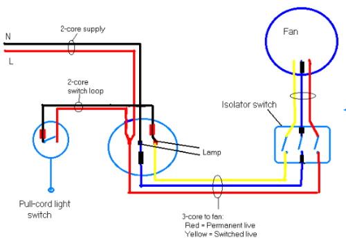 bathroom fan isolator wiring diagram  schematic diagram