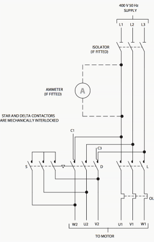 How to select contactors for use in direct on line starters