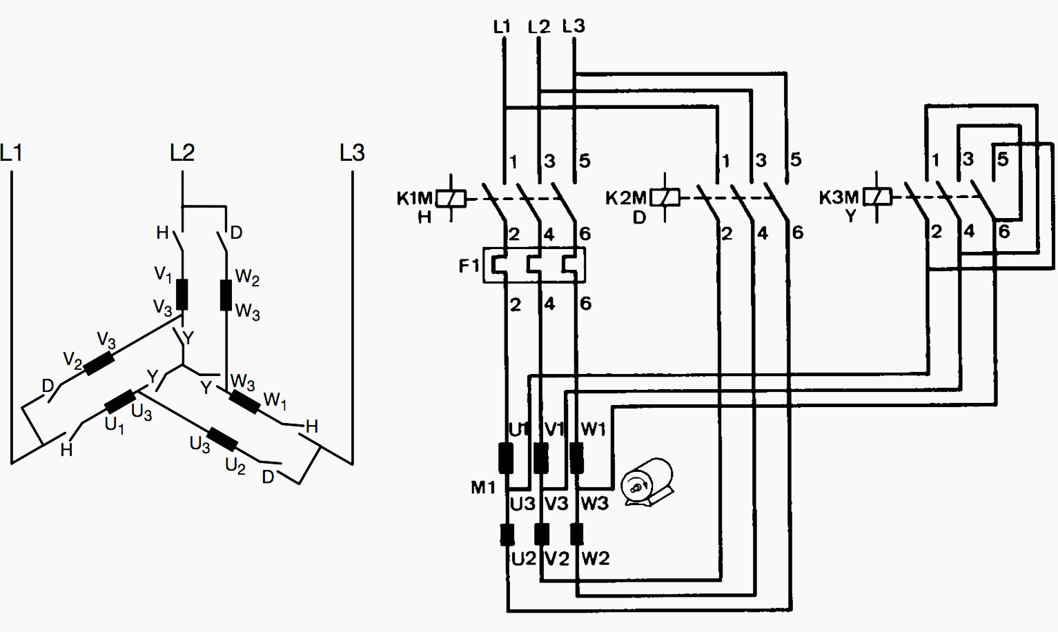 Traditional Star Delta Motor Starting Method Used In