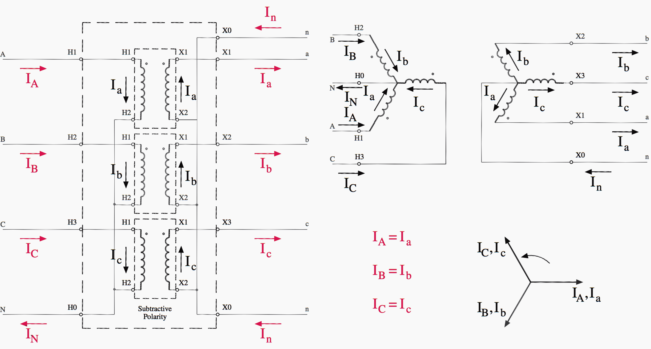 Three Phase Transformer Connection Diagram