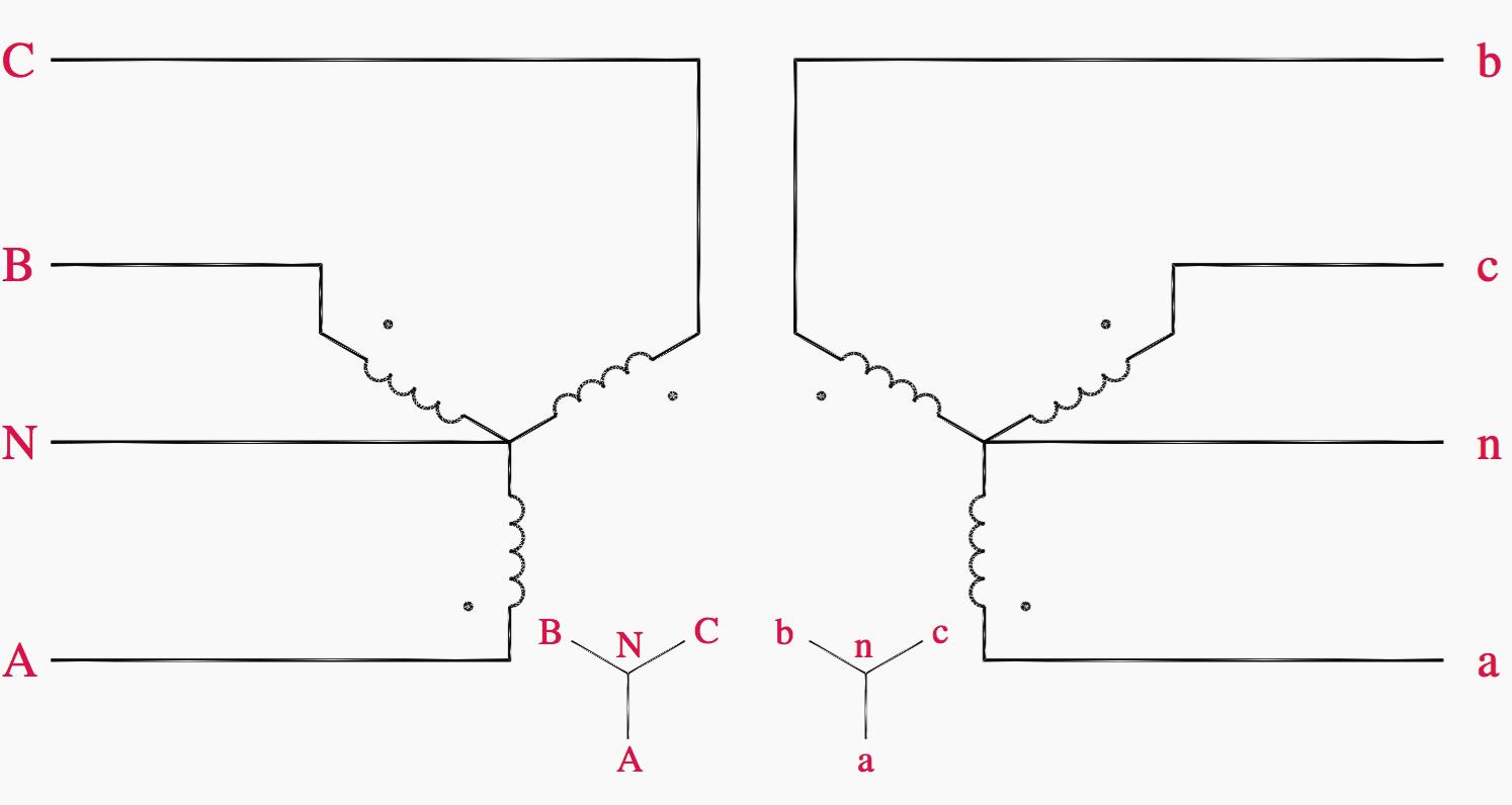 Wye Wye Transformer Connection Diagrams