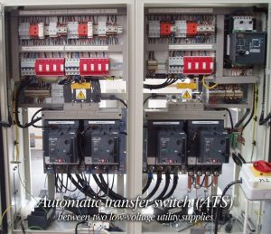 Automatic transfer switch (ATS) between two lowvoltage