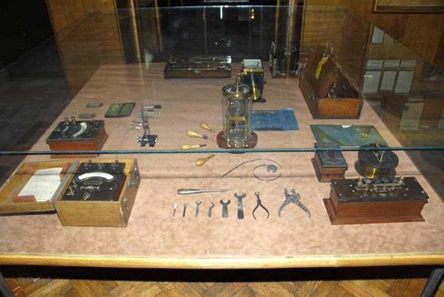 Instruments used by Nikola Tesla in his laboratory experiments.