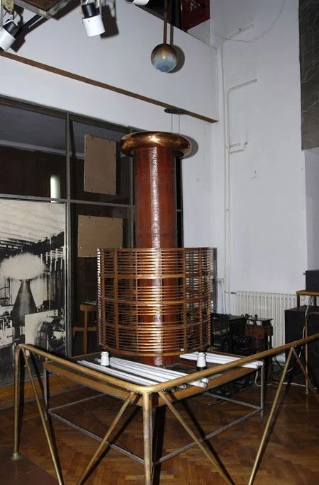 Huge Tesla Coil in the Tesla Museum