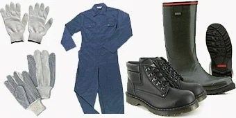Safety clothes, gloves and shoes