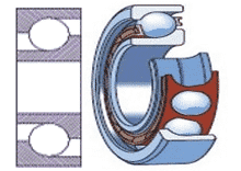 Single row angular contact bearing