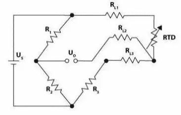 Three Wire Configuration of Resistance Temperature Detector