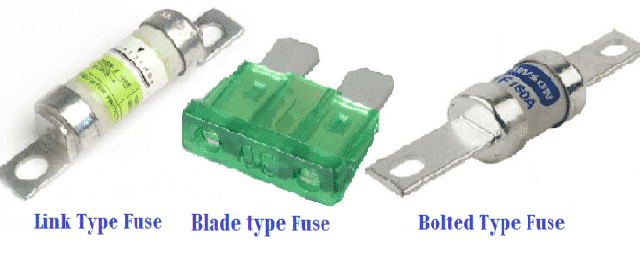 Link Type, 'D' Type and Bolted Type Fuse