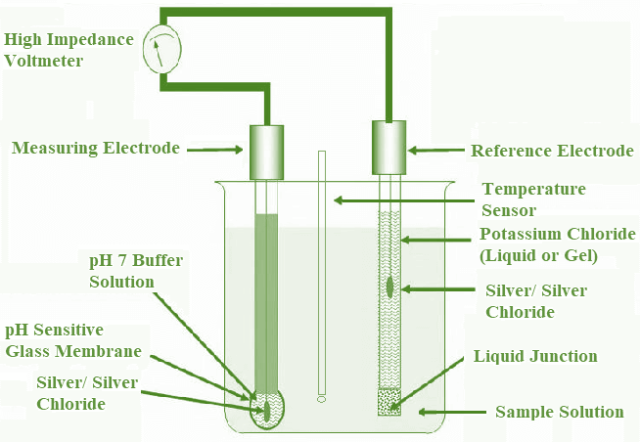 pH Meter working Principle