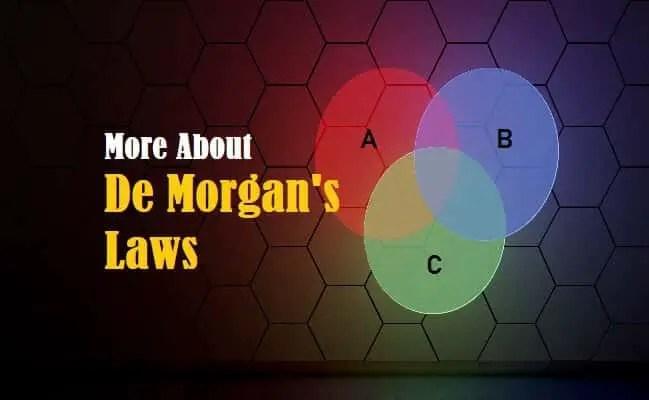 Introduction to De Morgan's Laws
