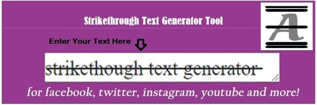 Strike Through Text Generator Tool