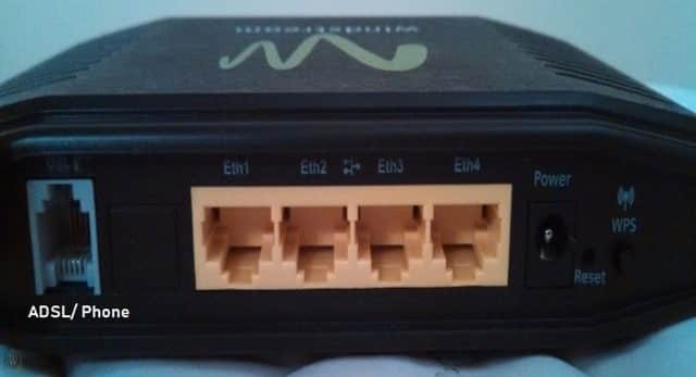 Ports on Windstream Router