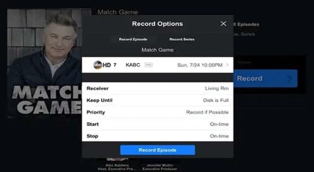 Record from DirecTV App