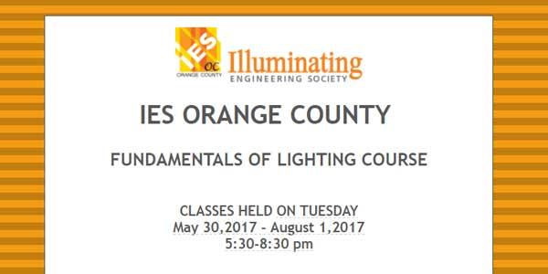 IES Orange CountyFundamentals of Lighting Course