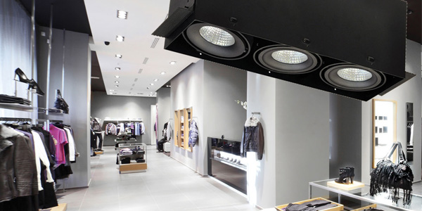 Nora Lighting Trimless MLS Series: Spotlights Displays While Blending into Ceiling