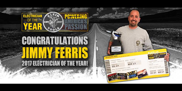 Klein Tools Announces 2017 Electrician of the Year Winner
