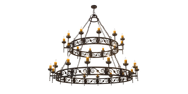 2nd Ave Lighting Debuts Majella Chandelier Featuring Elegant Scrollwork