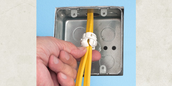 Excellent Arlingtons New White Button Cable Connector Easy Installation From Wiring Digital Resources Remcakbiperorg