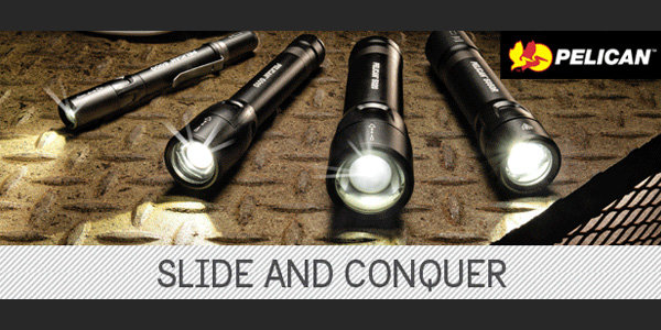 Pelican Introduces the 5 Series Flashlights with Slide Beam Technology