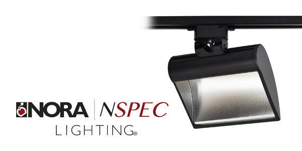 Nora Lighting's Versatile Dipper LED Installs as a Track or Canopy Wall/Ceiling Mount