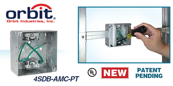 Orbit Industries' Junction Box with Angled MC Cable Clamps