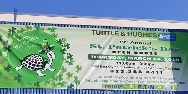 Turtle & Hughes Los Angeles Celebrates St. Patrick's Day with Open House Featuring LA Lighting