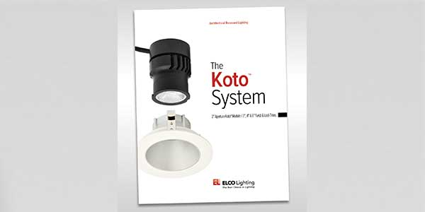 ELCO Lighting Announces the Release of its Highly Anticipated Koto System Catalog